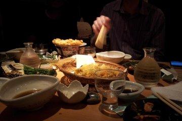 天妇罗和一些盘菜