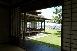 The house commands a view of Tokyo Bay