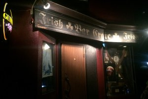 The exterior of Irish Bar Craic.