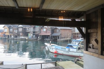 Cast a line from your own boathouse at Ine