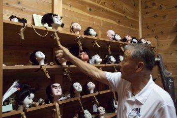 Головы кукол Труппы марионеток Тонда