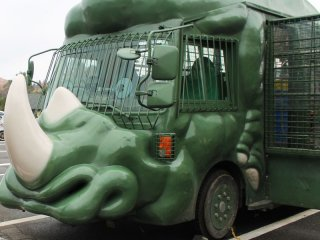 This unique jungle bus will take you around the park to see the wildlife.