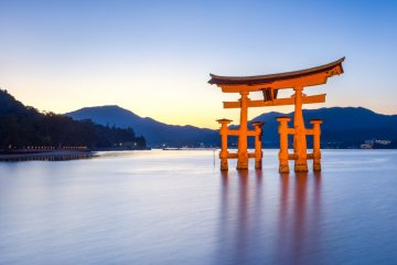 Use the Hiroshima Free Wi-Fi service on the ferry ride to Miyajima.