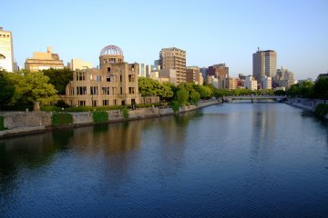 You can access the Hiroshima Free Wi-Fi service at the Gembaku (A-Bomb) Dome.