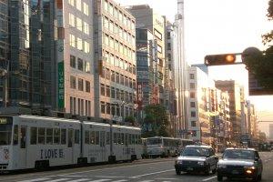 Visiting downtown Hiroshima.