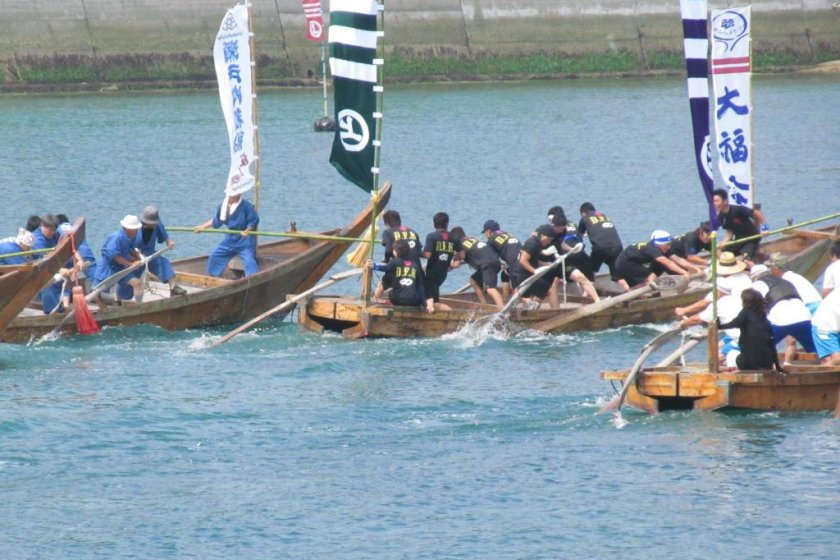 A race underway