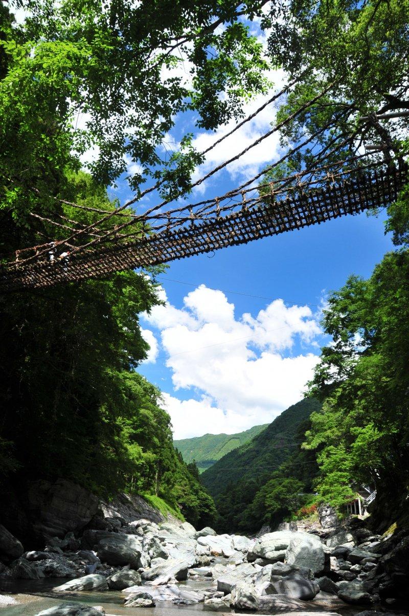 Kazurabashi vine bridge in the Iya Valley