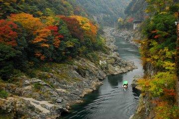 Oboke Gorge in autumn