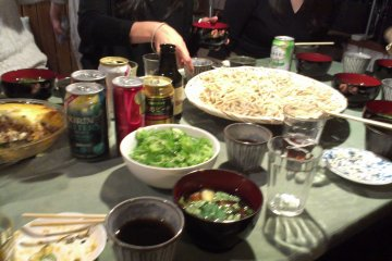 Soba Party with homemade soba from Masa the owner