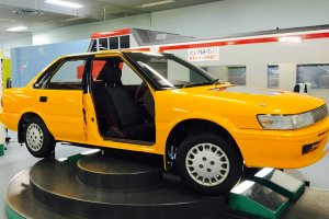 Hands-on car display at Nagano City Youth Science Museum
