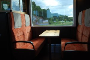 Retro style seating and a great view