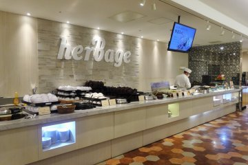The Japanese selection of dishes at buffet restaurant Herbage