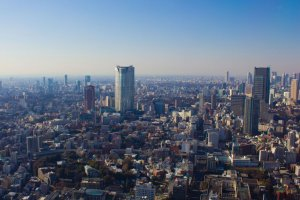 Vue sur Roppongi Hills depuis la Tour de Tokyo