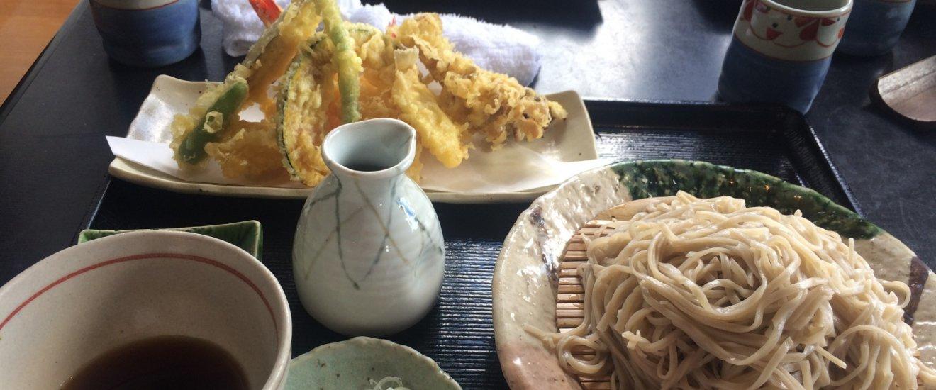 Des Zara soba et des tempura