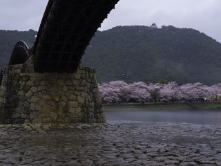 From underneath the Kintai Bridge
