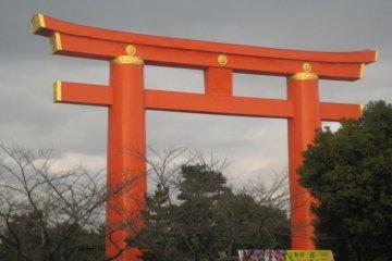 Heian Jingu's enormous torii gate