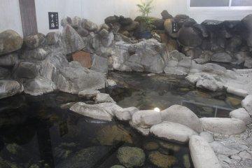 Rock onsen at Ryokan Ohashi