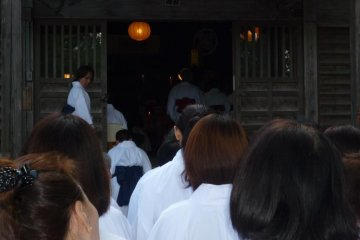 <p>Entering the Temple</p>