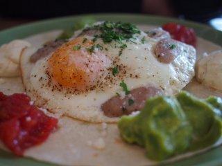 Huevos Rancheros is a hearty choice