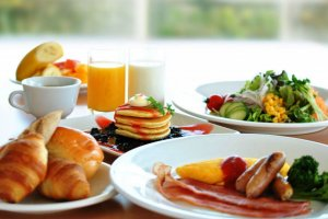 Japanese and Western Breakfast Buffet at Dress Diner