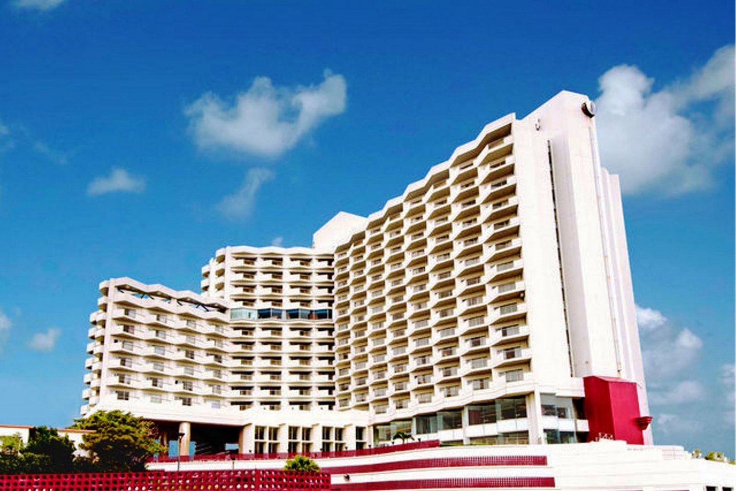 Okinawa Grand Mer Resort is perched on a hill overlooking Nakagususuku Bay