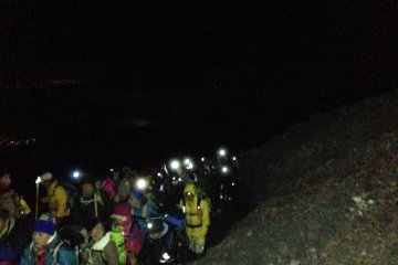 Line to the summit