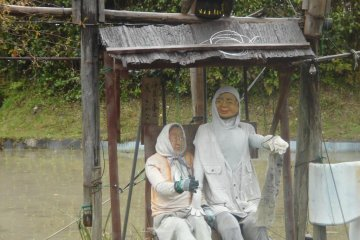 A pilgrimage along the Kumano Kodo is not always all that serious - there are some funny sights along the way