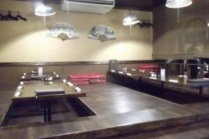 Area makan utama ketika masih sepi