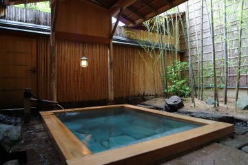 The outdoor onsen area is not to be missed even in this town famous for its onsens