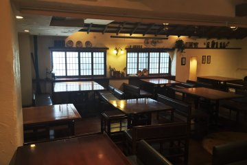 The dining area upstairs has plenty of tables
