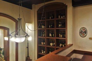 The restaurant has plenty of wine