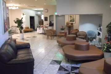 Relax in the lounge by reception