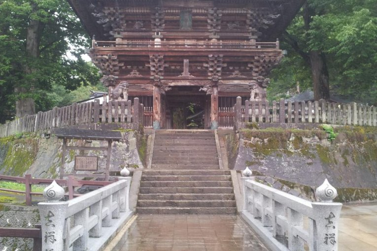 Bishamondo Temple in Urasa