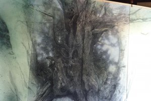 A dramatic tree painted by a local artist