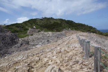 The rugged cliffs of Shikine-jima
