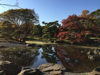 L'étang Ninomaru et ses couleurs d'automne