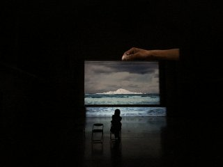 #83 The Birth of a Island by Mutsumi Tomosada is close by, featuring large video projections in a dark hall