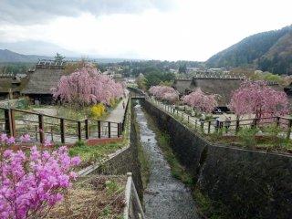 A pequena aldeia está situada na margem do Lago Sai (Saiko)