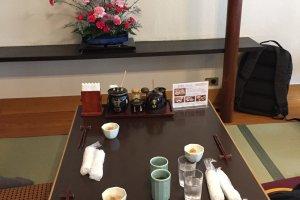 Les tables tatami au premier étage