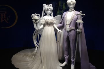 Mannequins in the Sailor Moon Escalation room