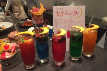 Beverages in the ChibiUsa cafe