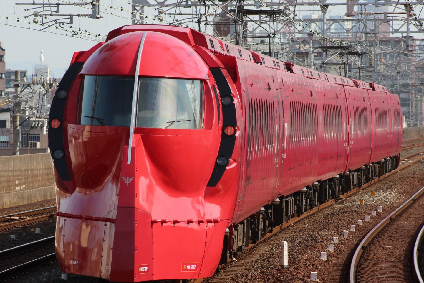 Nankai in red livery commemorating the Mobile Suit Gundam Unicorn series