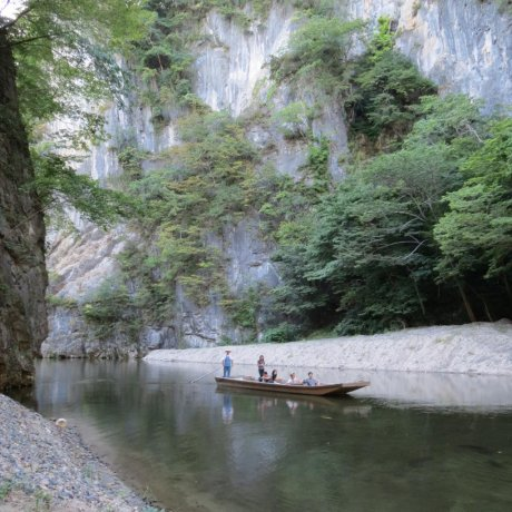 Boat Ride Through Geibikei Gorge