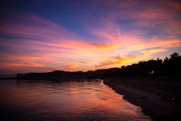 Lever du Soleil au Lac Biwa