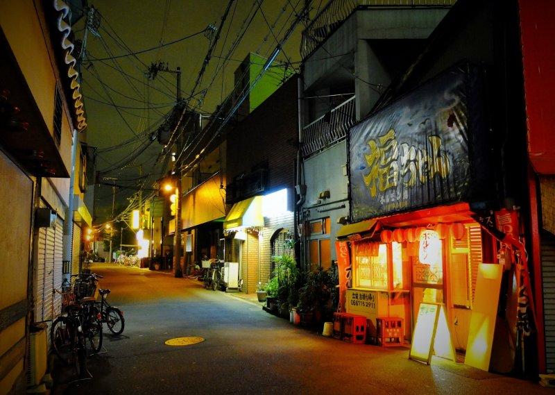 long exposure of an Osaka street