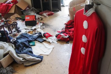 Costumes that were left behind.