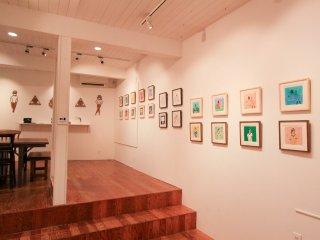 L'espace d'exposition de la galerie