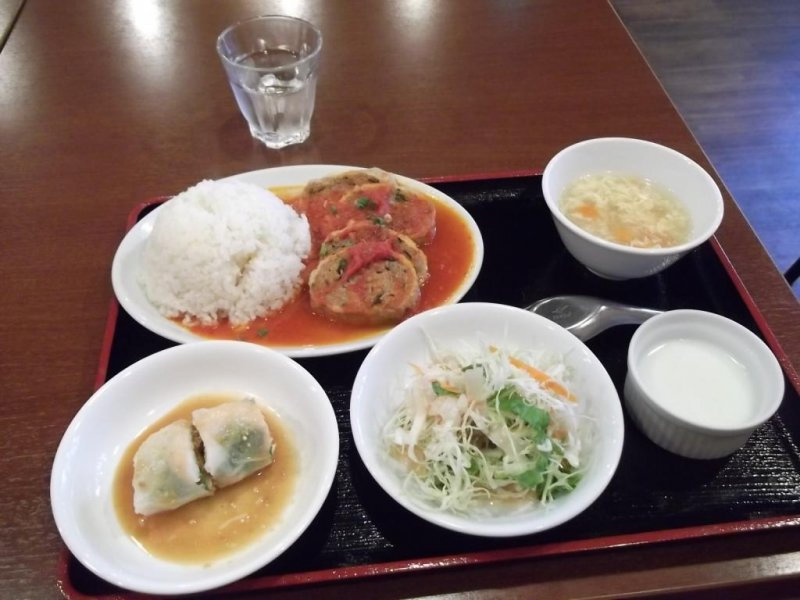 <p>My cheap, tasty and filling lunch set</p>
