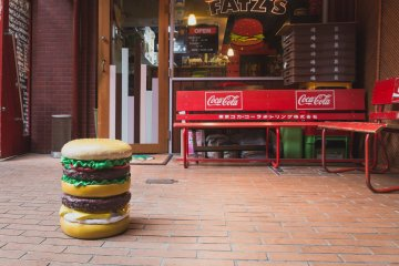 You know you're in the right place when you spot this adorable burger stool