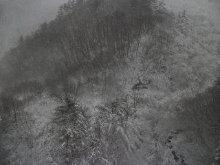 One of the views after snowfall going back to Fukushima from Yamagata
